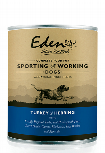 Eden Wet Food For Working & Sporting Dogs - Turkey & Herring